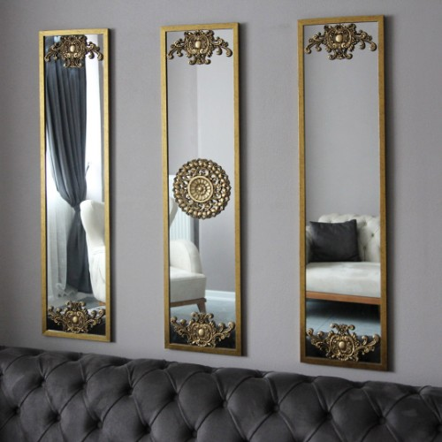 Picture of Letoon Wall Mirror Set of 3 - Gold