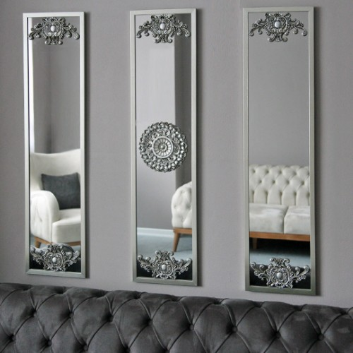 Picture of Letoon Wall Mirror Set of 3 - Silver