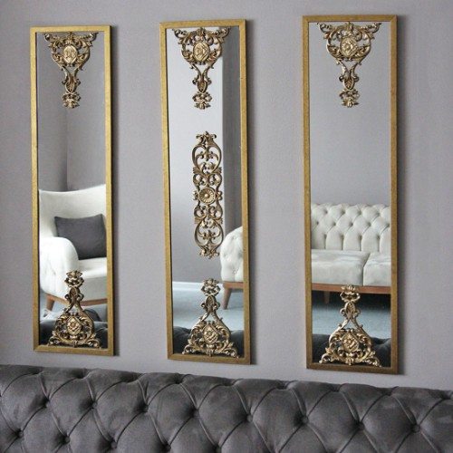 Picture of Lidyana Wall Mirror Set of 3 - Gold
