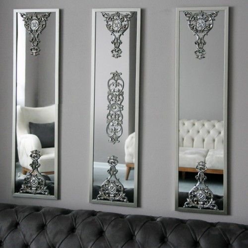 Picture of Lidyana Wall Mirror Set of 3 - Silver