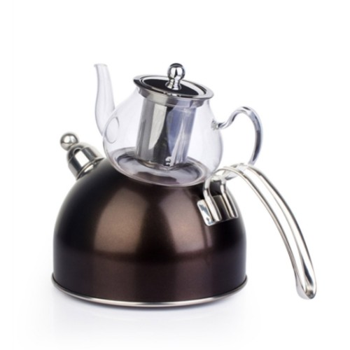 Picture of Wistle With Pressure Teapot Set -  Anthracite