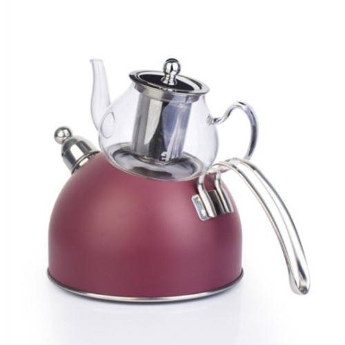 Picture of Wistle With Pressure Teapot Set -  Damson