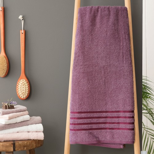 Matmazel Fourway Bath Towel 90x150cm - Damson