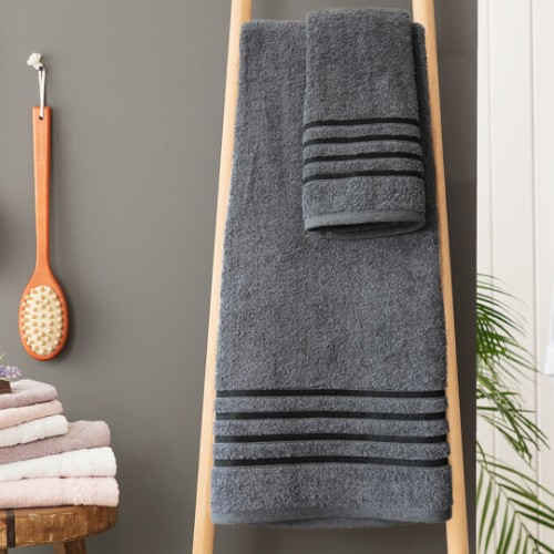 Picture of Matmazel Fourway Towels Bathroom Set - Anthracite Grey