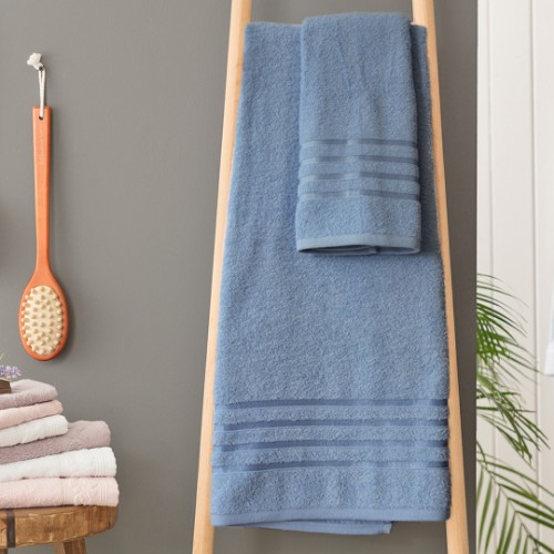 Picture of Matmazel Fourway Towels Bathroom Set - Blue