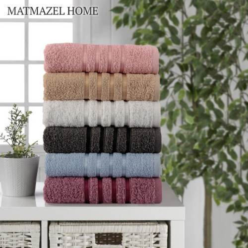 Picture of Matmazel Fourway Face Towels Set of 6 50x90cm - Mix