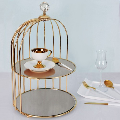 Picture of Cage Cookie Stand- Gold