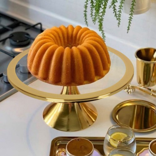 Picture of Thick Cake and Pastry Stand 30cm - Gold