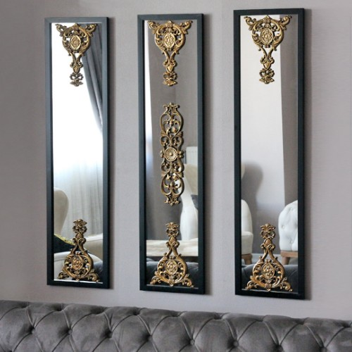 Picture of Lidyana Wall Mirror Set of 3 - Black
