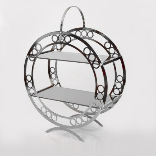 Picture of Ring Laser Makaron 2 Floored Cake and Pastry Stand - Silver