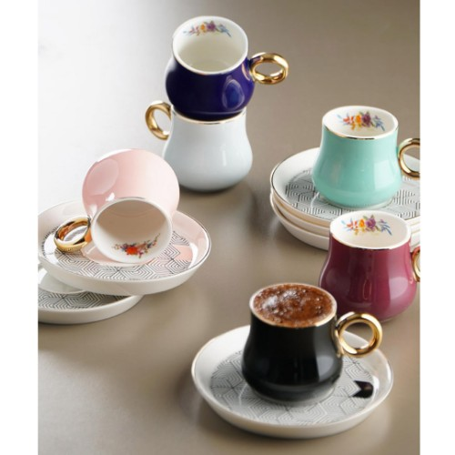 Picture of Daimon Colored Turkish Coffee Set